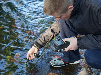 WHS Science Students Collect Data as Part of Stream Study Field Trip